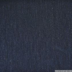 Jacquard laine mélangée bleu marine