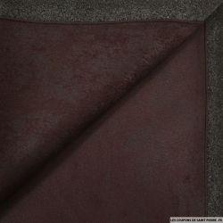 Suédine contrecollée pourpre polyester