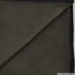 Suédine contrecollée taupe polyester