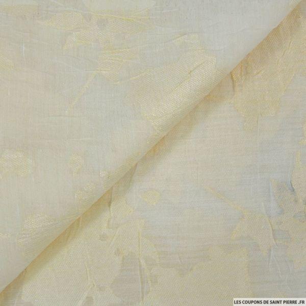 Dévoré de lin viscose ivoire