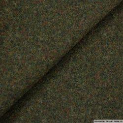 Velours de laine chiné vert