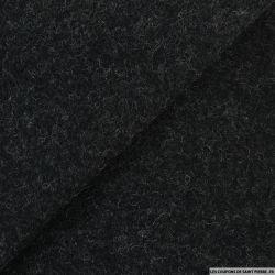 Velours de laine chiné gris