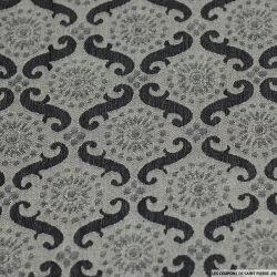 Jean's coton élasthanne imprimé tapisserie versaillaise