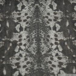 Jean's coton élasthanne imprimé reptilien gris brillant