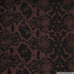 Jean's coton élasthanne imprimé python noir et rouge sombre