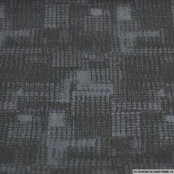 Jean's coton élasthanne imprimé graphique noir et gris