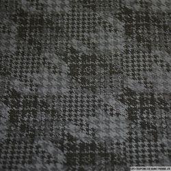 Jean's coton élasthanne imprimé pied de poule gris