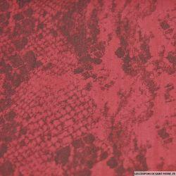 Jean's coton élasthanne imprimé serpent framboise