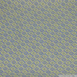 Coton élasthanne imprimé trèfles à 4 feuilles