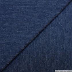 Coton froissé bleu jeans