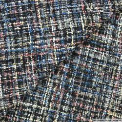 Tweed polyester fantaisie multicolore