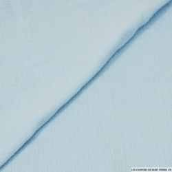 Double gaze bleu layette