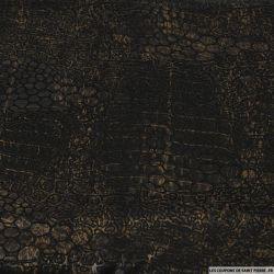 Jersey contrecollé skaï imprimé serpent marron