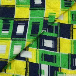 Dévoré polyester rectangle multicolore