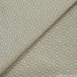 Jersey polyester fantaisie beige clair