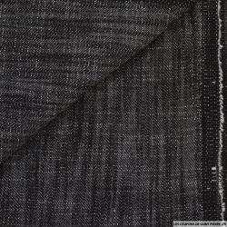 Coton élasthanne noir chiné