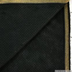 Faux daim perforé contrecollé noir