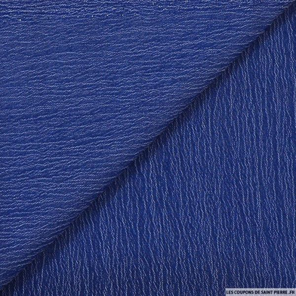 Coton froissé bleu jeans océan
