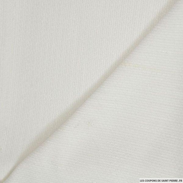 Polyester écru avec fils irisé