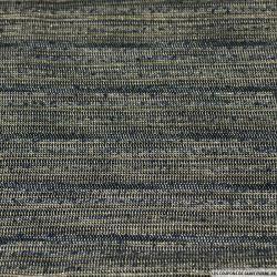 Polyester rayé irisé noir bleu et or