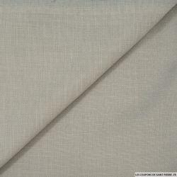 Tissu tailleur coton élasthanne gris clair