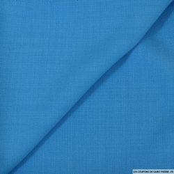 Crêpe polyester bleu marseille