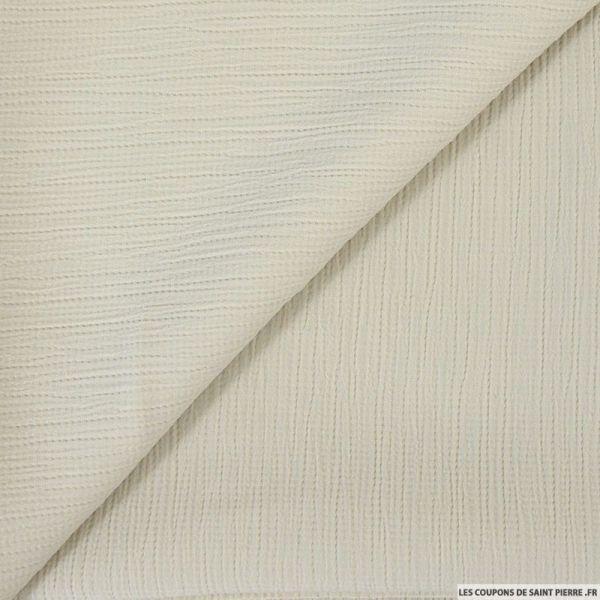 Crêpon polyester sable