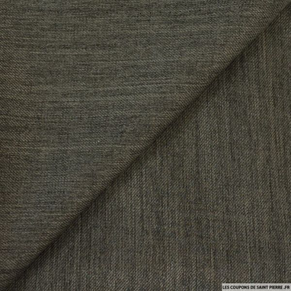 Tailleur chiné polyester taupe