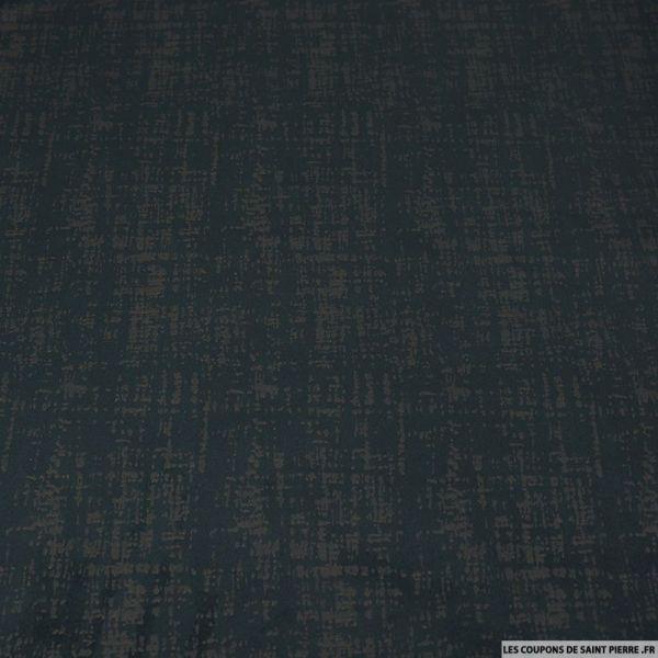 Velours polyester noir imprimé peinture vintage
