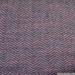 Maille tricot rose et violet chevron