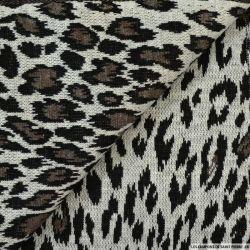 Jersey polyester imprimé animal sauvage foncé