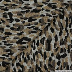 Jersey polyester imprimé animal sauvage clair
