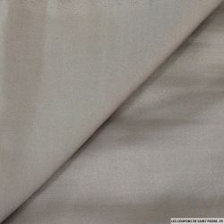 Crêpe envers satin polyester fluide taupe