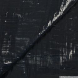 Polyester contrecollé aspect vinyl texturé bleu foncé