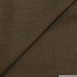 Crêpe satin fluide polyester marron