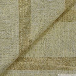 Tweed polycoton irisé beige et or