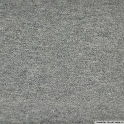 Laine mélangée contrecollé jersey grise