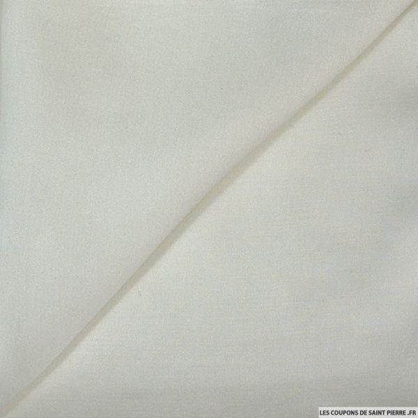 Crêpe satin fluide polyviscose blanc cassé