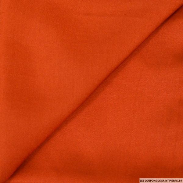 Crêpe satin fluide polyviscose orange