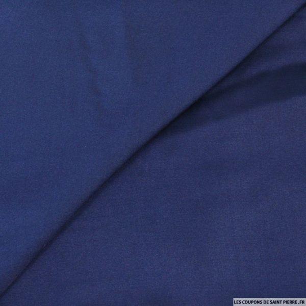 Crêpe satin fluide polyviscose bleu nuit