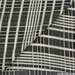 Microfibre imprimée replica noir et blanc cassé