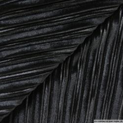 Panne de velours plissé noir