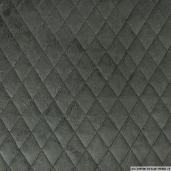 Fausse fourrure matelassé gris