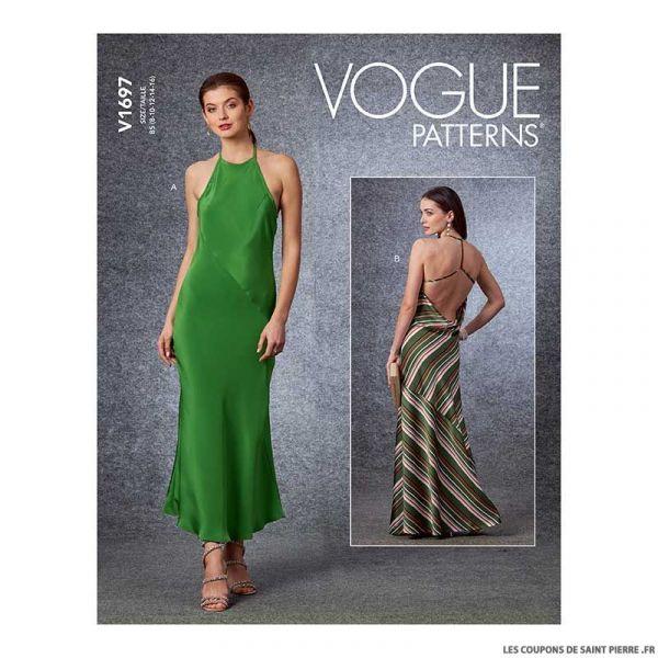 Patron Vogue V1697 : Robe de soirée