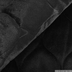 Panne de velours matelassé noir