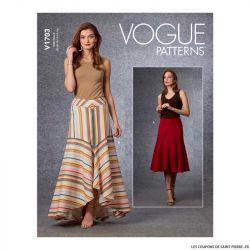 Patron Vogue V1703 : Jupe
