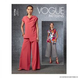 Patron Vogue V1706 : Haut semi-ajustés