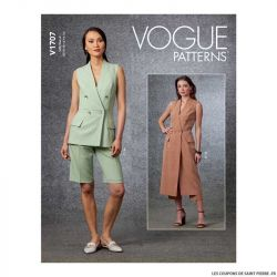 Patron Vogue V1707 : Haut semi-ajustés