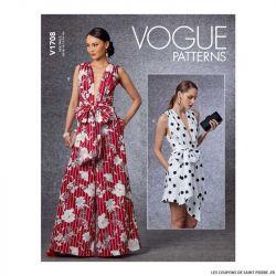 Patron Vogue V1708 : Combinaison doublée