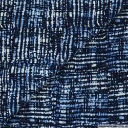 Microfibre imprimée paysage urbain bleu